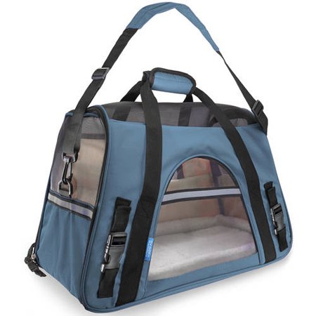OxGord Soft Sided Cat/Dog Pet Carrier - FAA Airline Approved-Blue-Small-Daily Steals