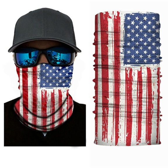 Face Mask and Neck Warmer with Dust and Sun UV Protection for Snowboarding-US Flag-Daily Steals