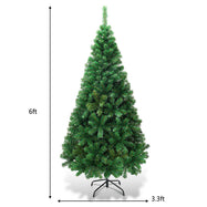 Artificial Christmas Tree Pine Tree with Solid Metal Legs-6'-Daily Steals