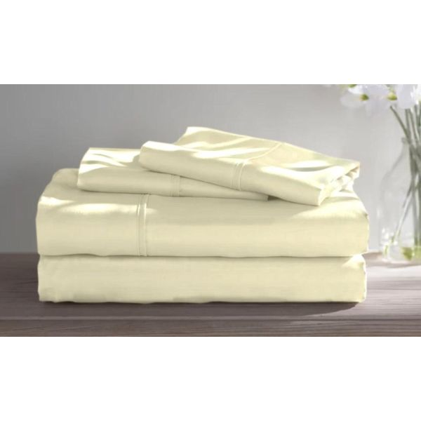 Dorm Room Bamboo Twin Extra Long Sheet Set- 3 Piece-Ivory-Full-Daily Steals
