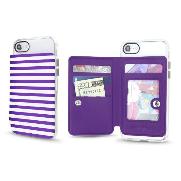 Gear Beast Universal Cell Phone Folio Wallet-Lilac Stripes-Daily Steals