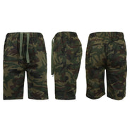 Men's Cotton Stretch Twill Jogger Shorts-Woodland Camo-XL-Daily Steals