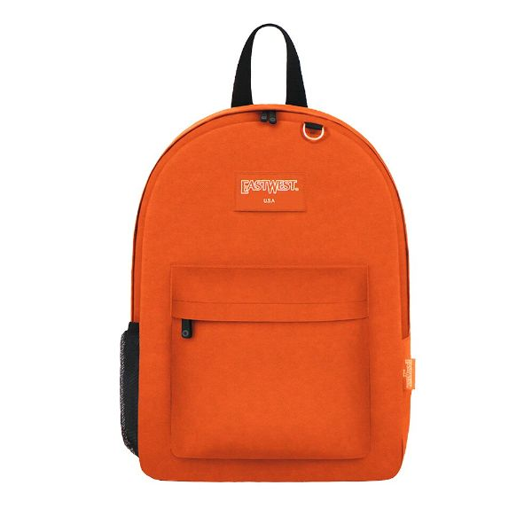 East West Classic Backpack with Key Holder and Bottle Holder-Orange-Daily Steals