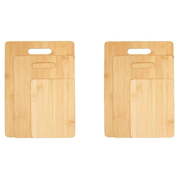 Bamboo Cutting Boards - Round Or Handle-6 Piece Handle-Daily Steals