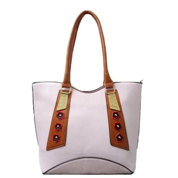 Stylish Tote Vintage Leather Handbag-Pink-Daily Steals