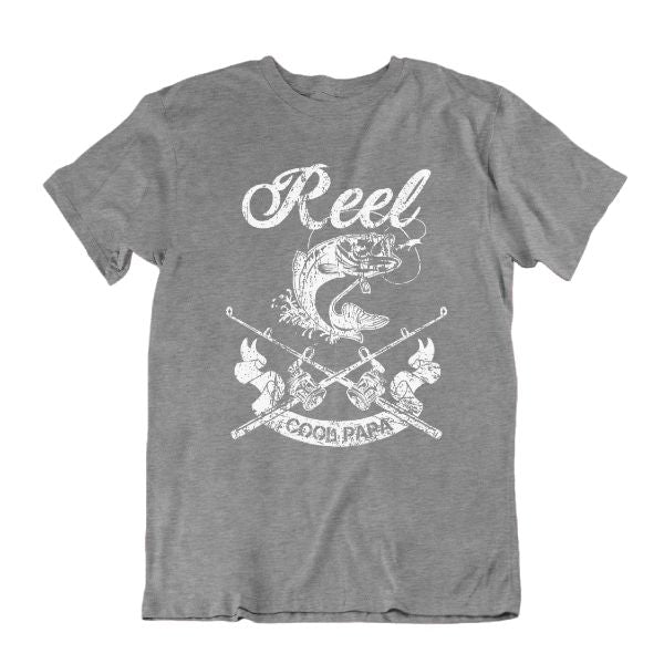 Reel Cool Papa' Funny Fishing T Shirt-Sports Grey-S-Daily Steals