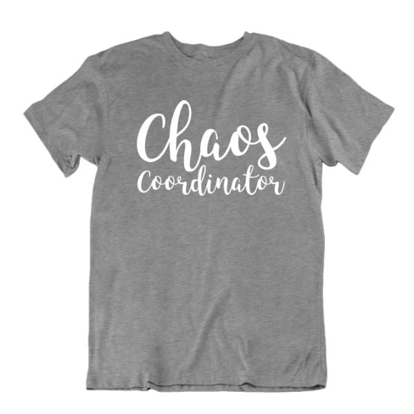 """Chaos Coordinator"" T-Shirt-Sports Grey-Small-Daily Steals"