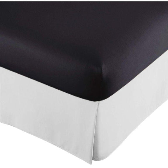 100% Ultra-Plush Microfiber Bed Skirt-White-Pleated-Full-Daily Steals