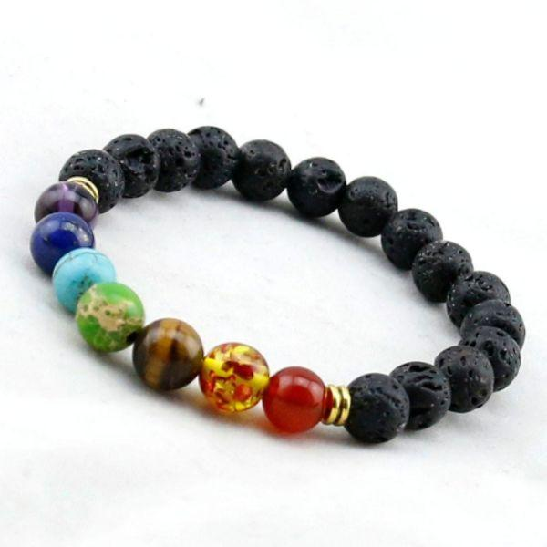 Daily Steals-7 Genuine Chakra Healing Natural Stone Bead Anklet-Accessories-