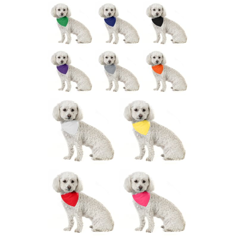 Solid Cotton 5 Pack Dog Bandana Triangle Bibs-Daily Steals