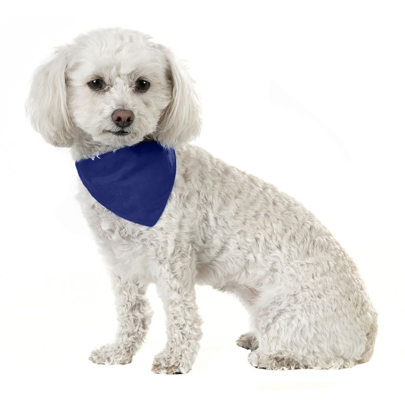 Solid Cotton 5 Pack Dog Bandana Triangle Bibs-Blue-Daily Steals