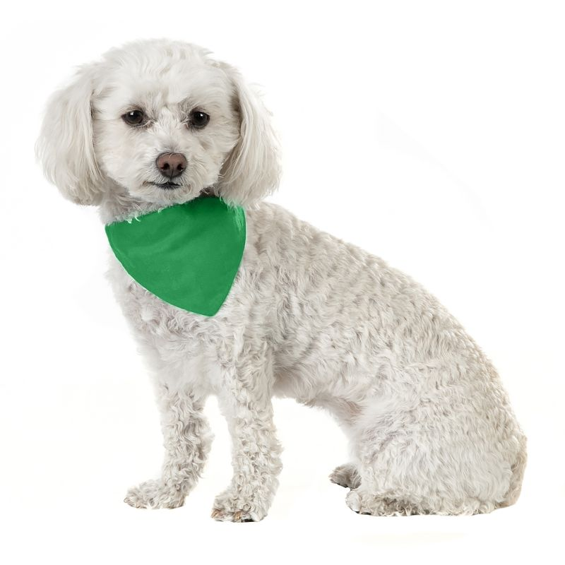 Solid Cotton 5 Pack Dog Bandana Triangle Bibs-Green-Daily Steals