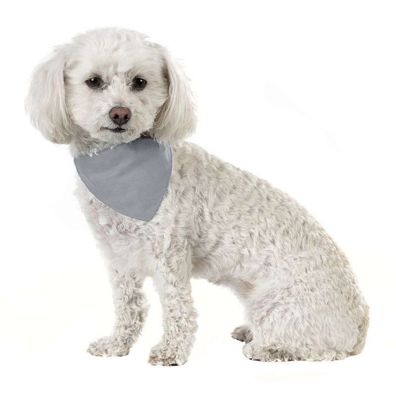 Solid Cotton 5 Pack Dog Bandana Triangle Bibs-Grey-Daily Steals