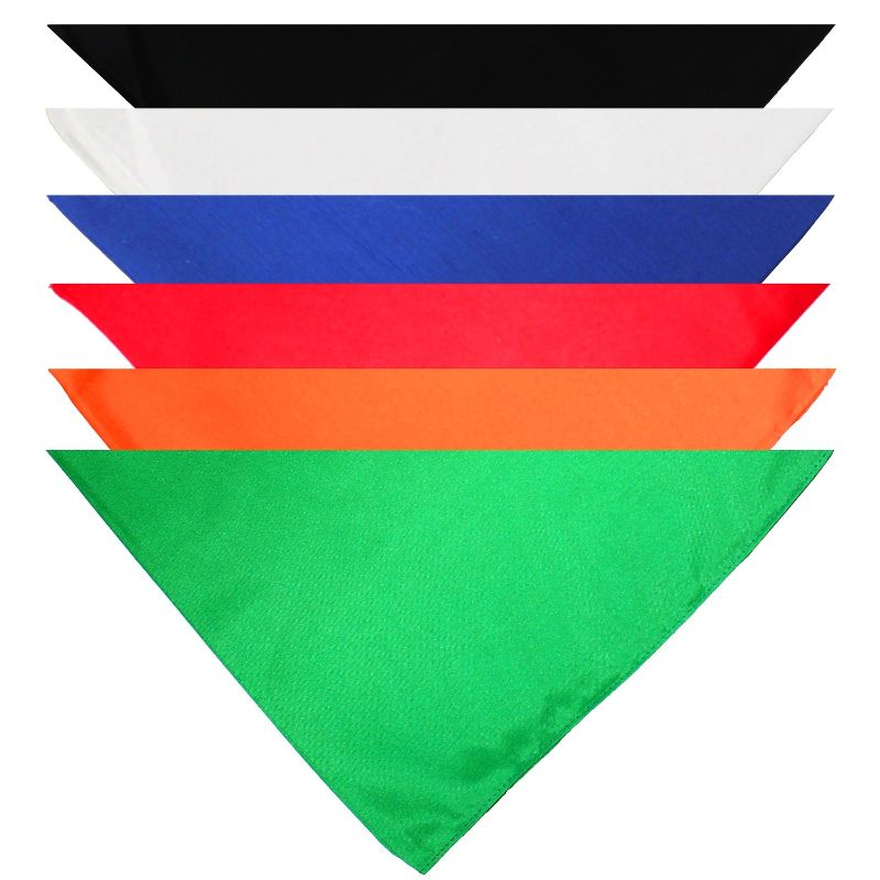 Solid Cotton 5 Pack Dog Bandana Triangle Bibs-Mix Colors-Daily Steals