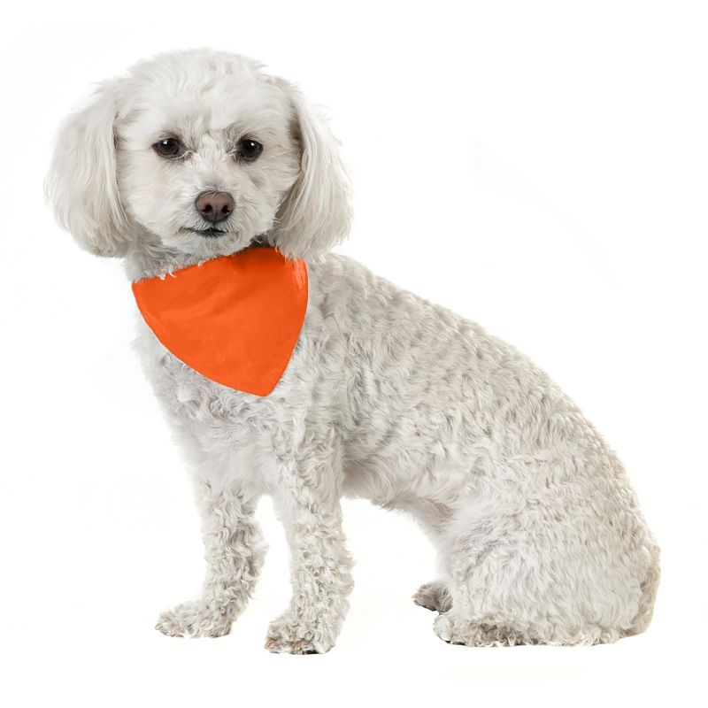 Solid Cotton 5 Pack Dog Bandana Triangle Bibs-Orange-Daily Steals
