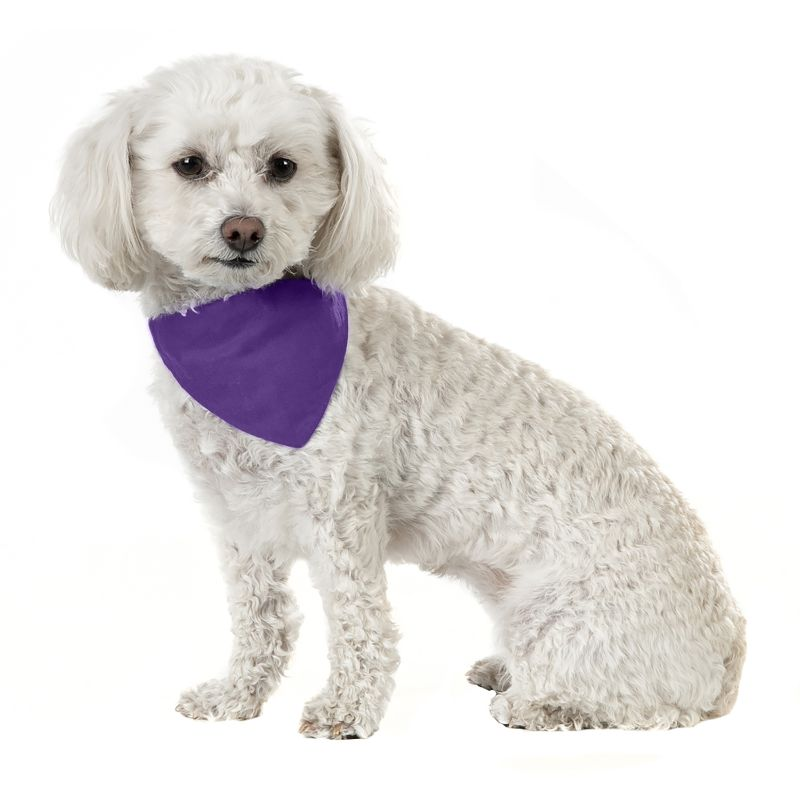 Solid Cotton 5 Pack Dog Bandana Triangle Bibs-Purple-Daily Steals