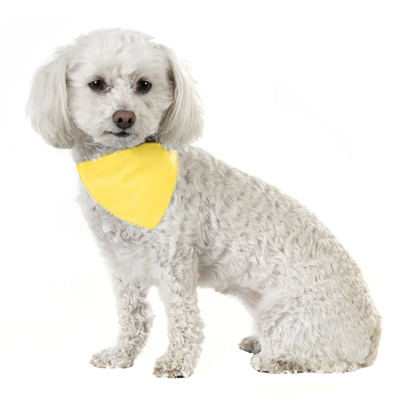 Solid Cotton 5 Pack Dog Bandana Triangle Bibs-Yellow-Daily Steals