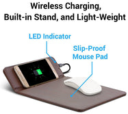 Aduro Wireless Charging Mouse Pad For All Qi Enabled Devices-Daily Steals