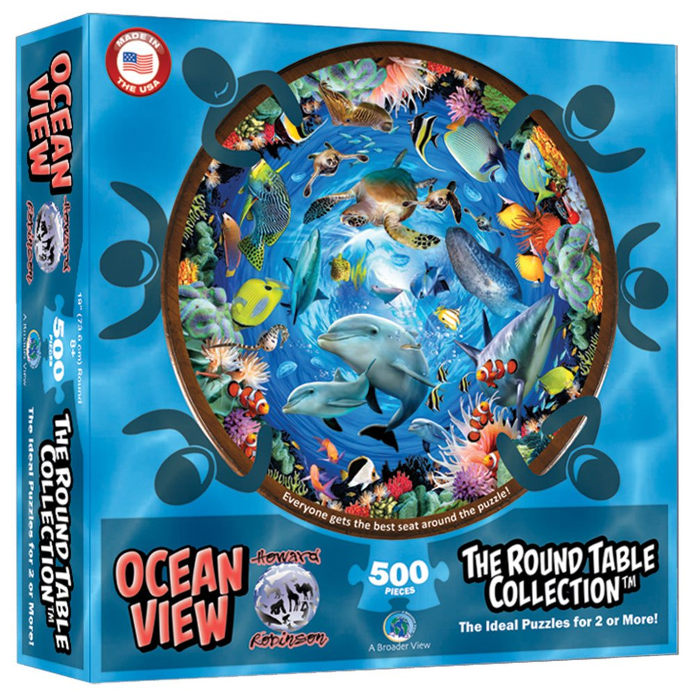 Round Table Puzzle 500 Piece Set - Options Available-Daily Steals