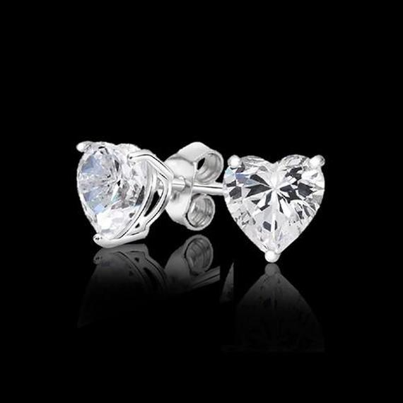 Sterling Silver 2 CTTW Simulated Diamond Studs - 4 Styles