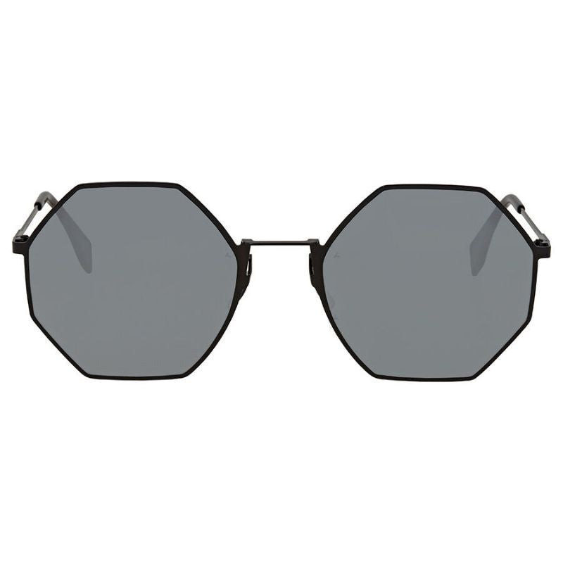 Fendi Eyeline FF 0292 807 T4 Black Round Metal Sunglasses-Daily Steals