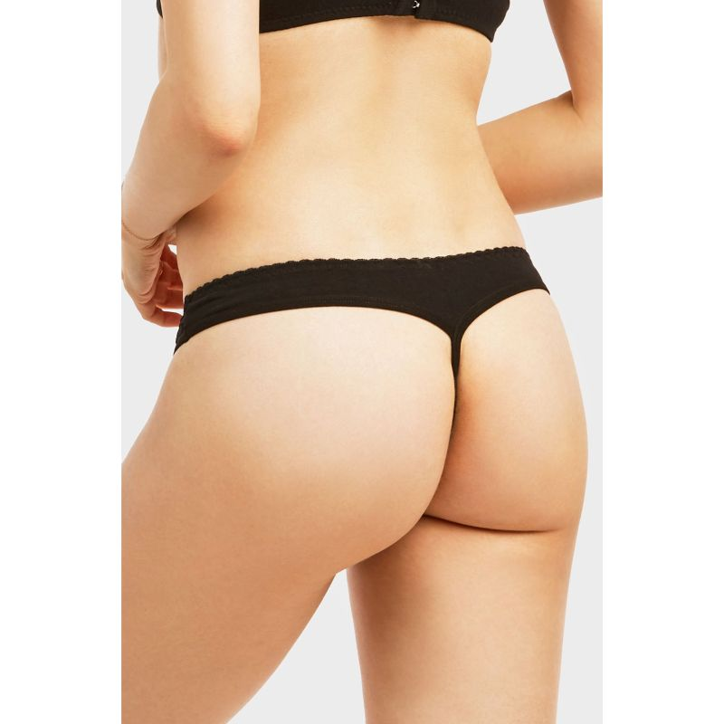 Women's Cotton Thong G-String - 12 Pack-Daily Steals