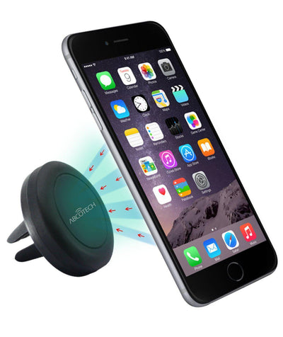 [2-Pack] Air Vent Smartphone Car Mount w/ Magnetic 1 Step Mounting Technology
