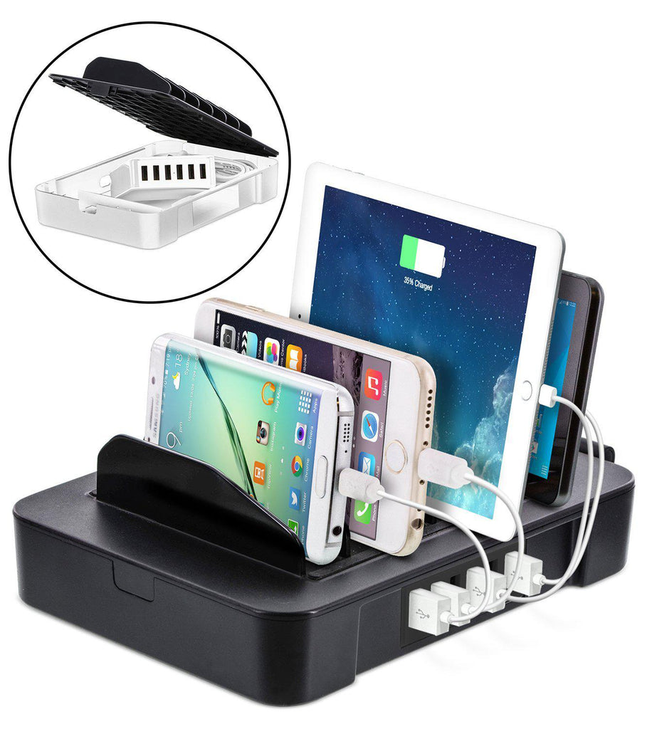 update alt-text with template Daily Steals-Okra USB Charging Station for Multiple Devices-Cell and Tablet Accessories-Black-