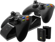 Nyko Charge Base S - 2 Port Controller Charger with 2 Rechargeable Batteries for Xbox 360-Daily Steals