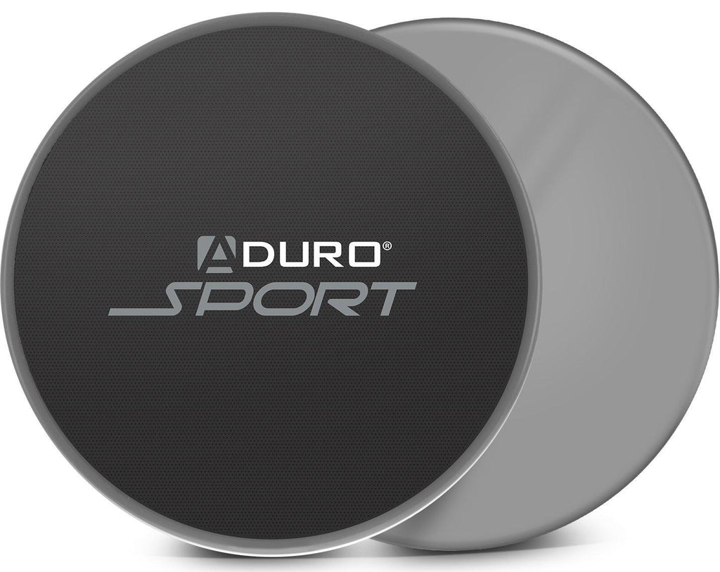 Aduro Exercise Sliders - 2 Pack-Gray/Black-Daily Steals