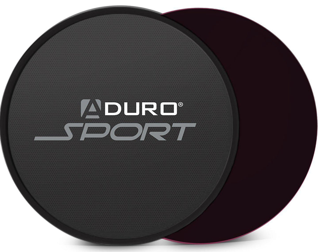 Aduro Exercise Sliders - 2 Pack-Black/Black-Daily Steals