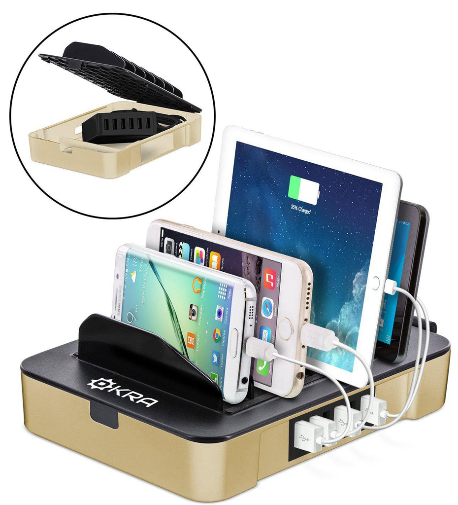 update alt-text with template Daily Steals-Okra USB Charging Station for Multiple Devices-Cell and Tablet Accessories-Gold-