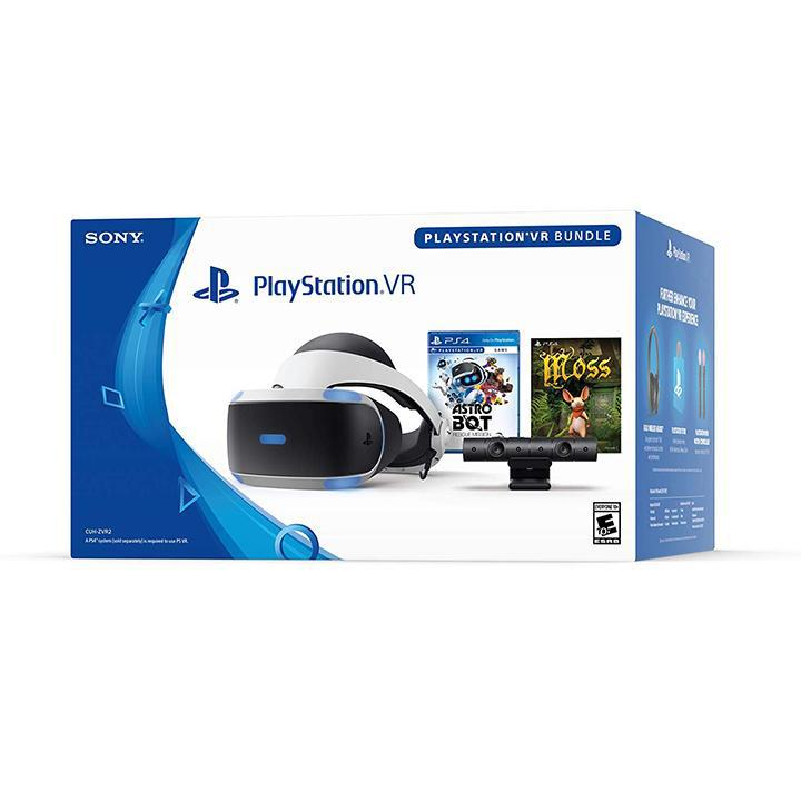 Daily Steals-Sony PlayStation VR ASTRO BOT Rescue Mission and Moss Bundle - Black/Blue-VR and Video Games-