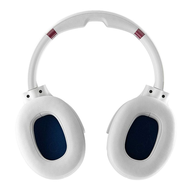 Casque d'écoute à suppression de bruit actif Skullcandy Venue - White / Crimson-Daily Steals