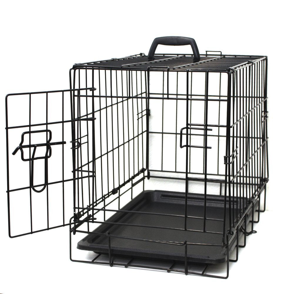 "Oxgord Double Door Folding Dog and Cat Crate, Kennel with Tray, 20""- 48""-20"" Single Door - No Divider-Daily Steals"