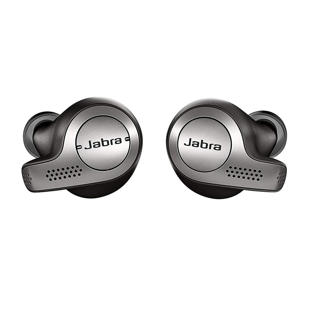 Daily Steals-Jabra Elite 65t Alexa Enabled True Wireless Earbuds with Charging Case – Titanium Black-Headphones-