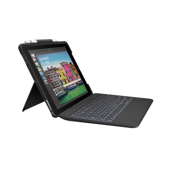 Logitech iPad Pro 10.5 inch Keyboard Case | SLIM COMBO with Detachable, Backlit, Wireless Keyboard and Smart Connector-Daily Steals