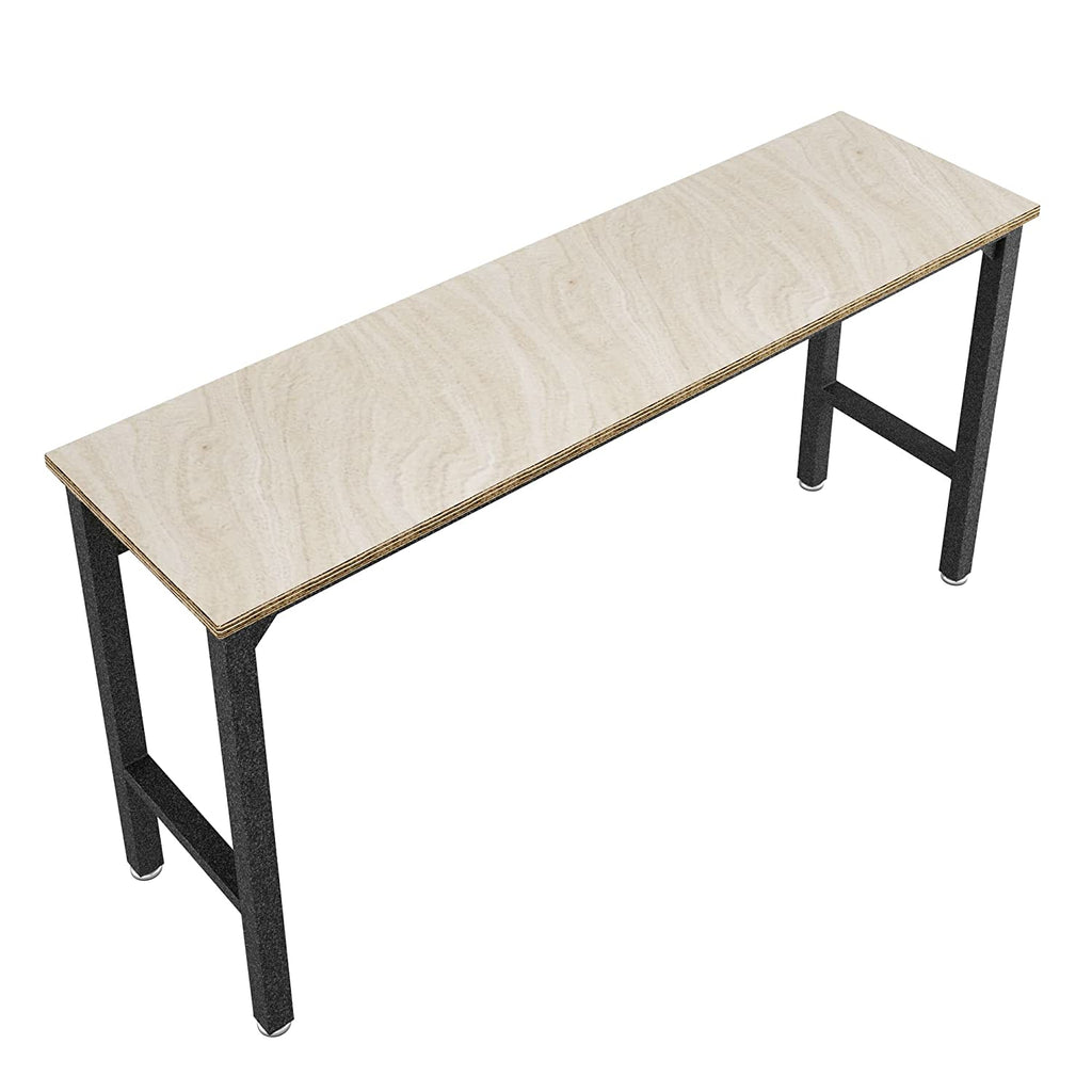 update alt-text with template Daily Steals-Fortress Natural Wood Top and Gray Steel Garage Table-Furniture-