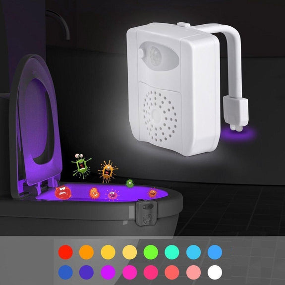 Marquee Innovations Motion Activated 16 Color Toilet Night Light-Daily Steals