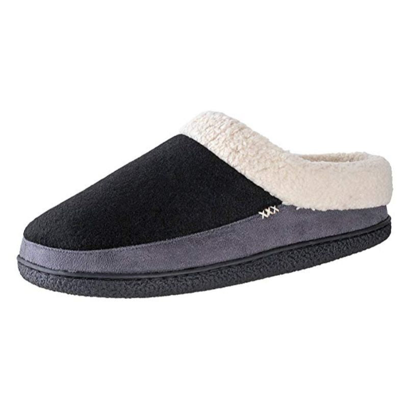Willowbee Evelyn Suede Slippers for Women-Black / Grey-6/7/2020 12:00:00 AM-Daily Steals