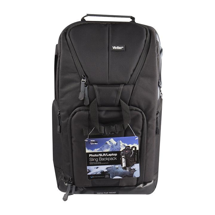 Daily Steals-Vivitar Photo SLR Camera Laptop Sling Backpack - Large, Black-Accessories-