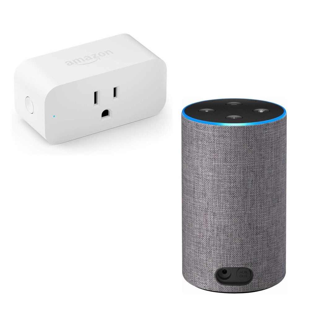 Echo (2nd Gen) Smart Speaker w/ Alexa and Dolby and Amazon Smart Plug Bundle-Daily Steals