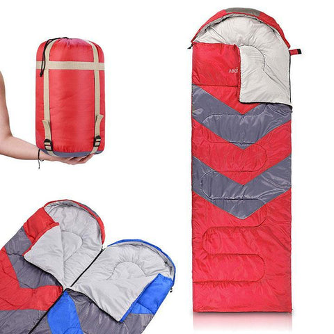 Daily Steals-Sleeping Bag with Hood-Outdoors and Tactical-Red-
