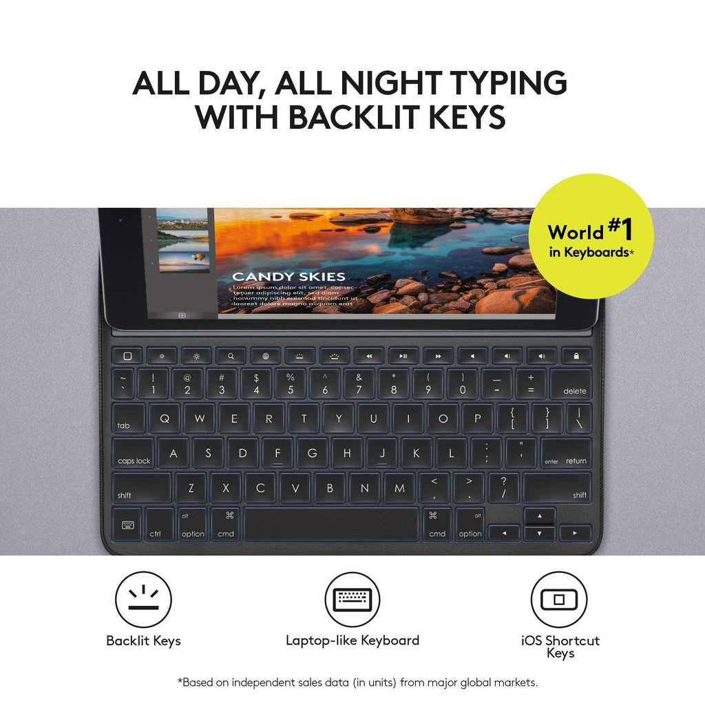 Logitech CREATE Backlit Keyboard Case with Smart Connector for iPad Pro 9.7-Daily Steals