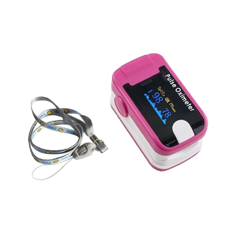 Fingertip Pulse Oximeter with Audio Alarm and Pulse Sound-Pink-Daily Steals