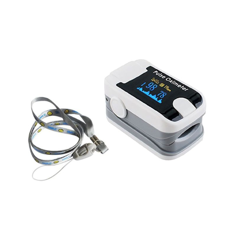 Fingertip Pulse Oximeter with Audio Alarm and Pulse Sound-White-Daily Steals