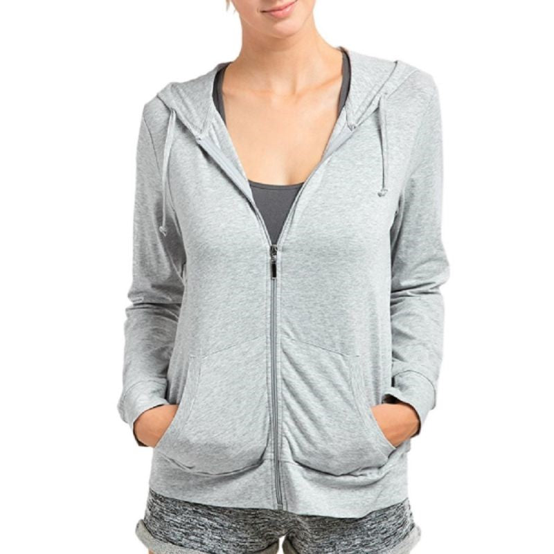 Women Zip-Up Cotton Hoodie Jacket - 3 Pack