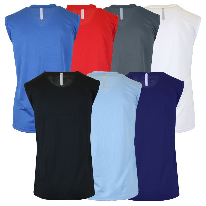 Men's Assorted Moisture Wicking Performance Muscle Tees - 6 Pack