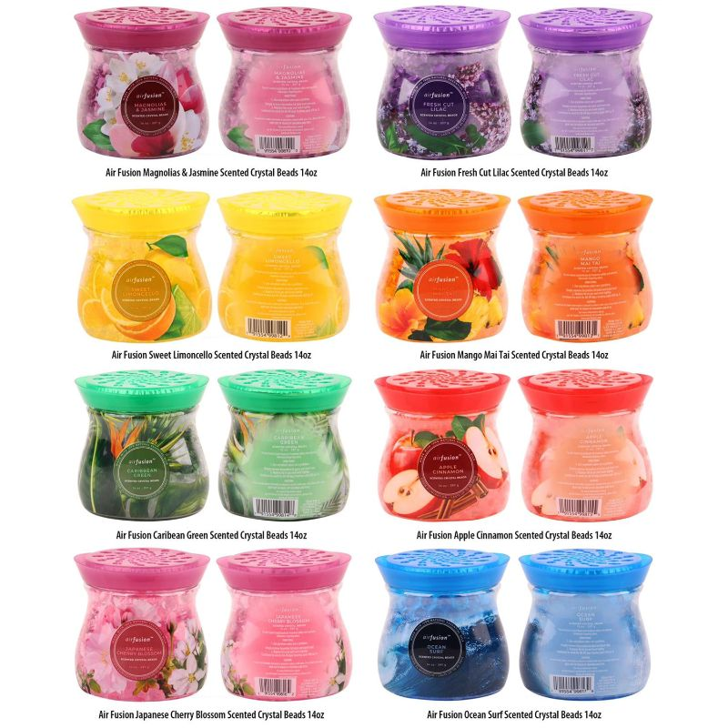 Assorted Scented Crystal Freshener Beads 14 oz - 6 Pack