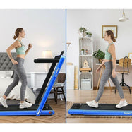 2 in 1 Folding Treadmill Dual Display with Bluetooth Speaker-Daily Steals